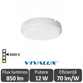 Vivalux ELLIS R Led 12W IP54 4000K Alb-Neutru