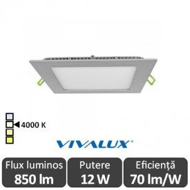 Vivalux Panou GRID LED Panel 12W CL/SR 4000K Aluminiu