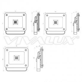 Vivalux - Proiector Z-PAD LED de Exterior 10W IP65 4000K Alb-Neutru Culoare Aluminiu