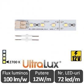 Bandă LED rigida - Ultralux  LRS121227 12W/m 12V  2700K alb-cald
