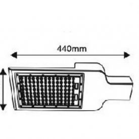 Aca Lighting - NOLA Corp iluminal stradal cu LED 100W 4000K alb-neutru