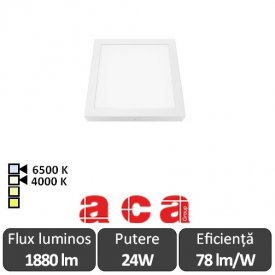Aca Lighting Panou Led Pătrat Arca 24W