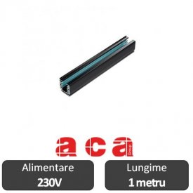 Aca Lighting Șină Proiectoare Led 3 faze 1 metru