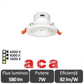ACA Lighting Spot Falko Led Rotund 7W 3000/4000/6000K