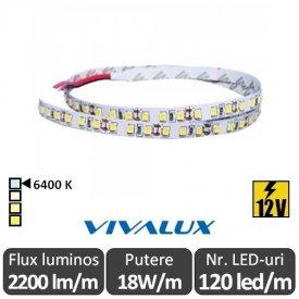 Bandă LED flexibilă - Vivalux Galo LED SMD2835 18W/m 12V rolă 5m alb-rece