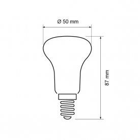 Bec cu LED Reflector R50 5W E14 alb-cald