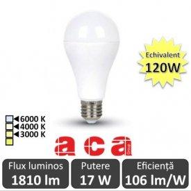 Bec LED Aca LED E27 17W A65 3000/4000/6000K
