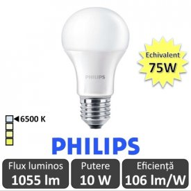 Bec LED Philips - CorePro LED bulb 10W A60 230V E27 alb-rece