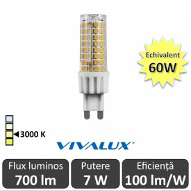 Bec Vivalux - OTO LED 7W G9 alb-cald