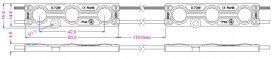 Modul LED 0.72W SMD5050 12Vdc IP65, alb-rece
