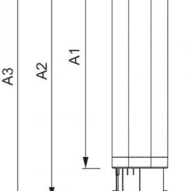 Philips bec LED PL-C 8.5W 2 pini 3000/4000K alb-cald/alb-neutru