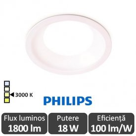 Philips Ledinaire DN010B LED18S/830 1800lm PSU WH