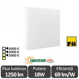 Plafonieră LED SPECTRUM NYMPHEA ECO 2 LED 18W alb-cald/neutru sau rece