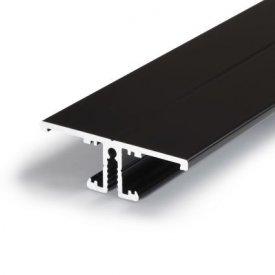 Profil LED aparent BACK 10, negru, lungime 2m