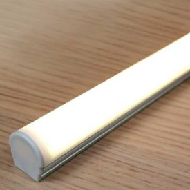 Profil LED aparent UNI 12, aluminiu anodizat, lungime 2m