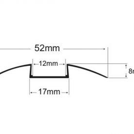 Profil LED de trecere tip A209, pentru montaj aparent, lungime 2m