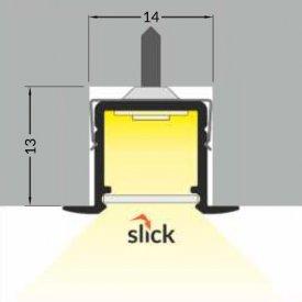 Profil LED încastrat SMART IN 10, alb, lungime 2m