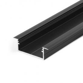 Profil LED încastrat VARIO 30-06, negru, lungime 2m