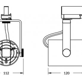 TOPMET  Proiector Led orientabil GAMO  4000lm negru
