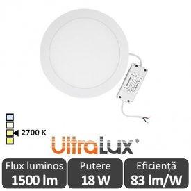 Ultralux Panou Led Rotund 18W Alb-Cald LPRB2251827
