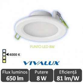 Vivalux PUNTO  LED 8W alb-neutru