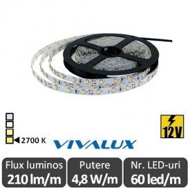Bandă LED flexibilă - Vivalux Coda LED 4,8W/m 12V rolă 5m alb-cald