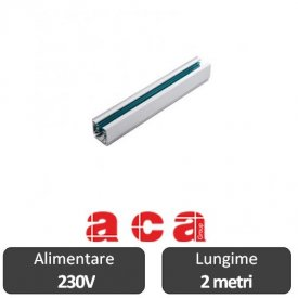 Aca Lighting Șină Proiectoare Led 3 faze 2 metri