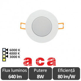 ACA Lighting Spot Vera Led Rotund 8W IP65 3000/4000/6000K