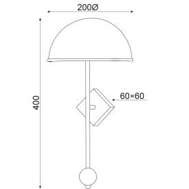 APLICA ACA LIGHTING DCR171181W METAL MARMURA ALBA CUPRU E14