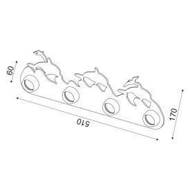 CORP ILUMINAT ACA LIGHTING ZN170114WB MDF PLASTIC ALBASTRU E27