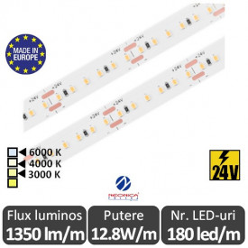 Bandă LED flexibilă SMD2216 12.8W/m IP20 180led/m 24V