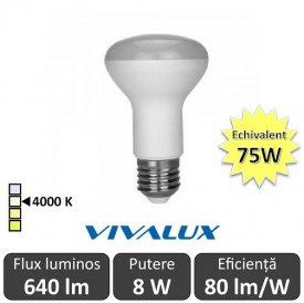 Bec LED Reflector Vivalux 8W 640lm E27 4000K