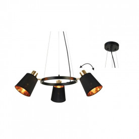 Lampa suspendata EG213P63BK 3xE14
