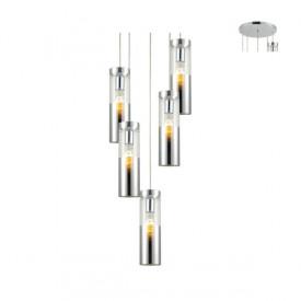 Lampa suspendata V371975PCH 5xE27