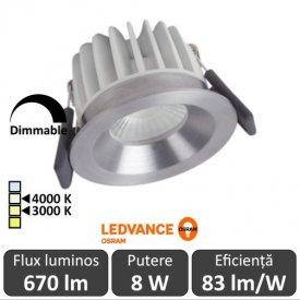 OSRAM Ledvance Spot Led Dimabil 8W Aluminiu 3000/4000K IP44