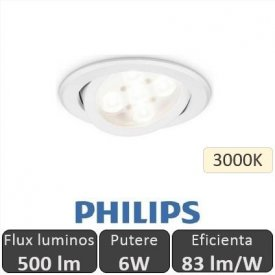 Philips - Spot LED RS011B 6W/830 orientabil, alb-cald