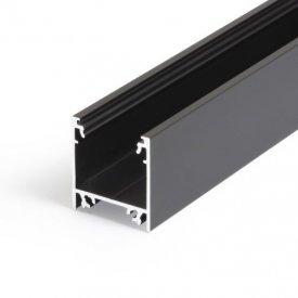 Profil LED aparent LINEA 20, negru, lungime 2m