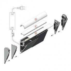 Profil LED aparent WALLE 12, alb, lungime 2m