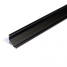 Profil LED de colț CABI 12,negru, lungime 2m