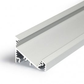 Profil LED de colț CORNER 14, aluminiu anodizat, lungime 2m