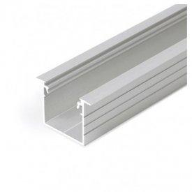 Profil LED încastrat LINEA IN 20, aluminiu anodizat, lungime 2m