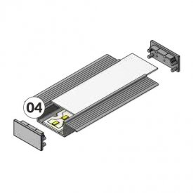 Profil LED încastrat VARIO 30-04, aluminiu anodizat, lungime 2m