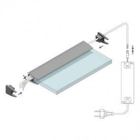 Profil LED pentru sticlă MIKRO 10, aluminiu anodizat, lungime 2m