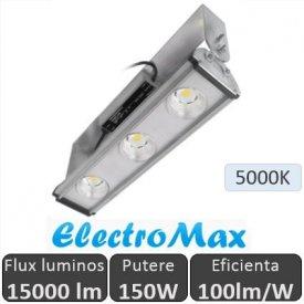 Proiector LED industrial cu 3 LEDuri 150W, alb-rece