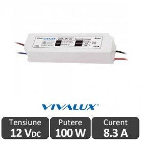 Sursa alimentare VIVALUX LED 100W 12V IP67