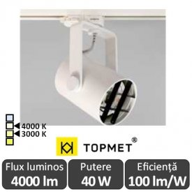 TOPMET  Proiector Led orientabil GAMO  4000lm alb