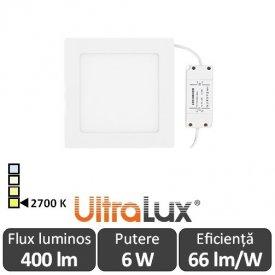 Ultralux Panou Led 6W Alb-Cald LPSB105627