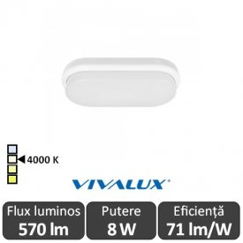 Vivalux ELLIS/O Led 8W IP54 4000K Alb-Neutru