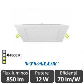 Vivalux Panou GRID LED Panel 12W CL/W 4000K Alb