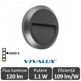 Vivalux RINO RD 1.1W IP65 4000K Alb-Neutru
